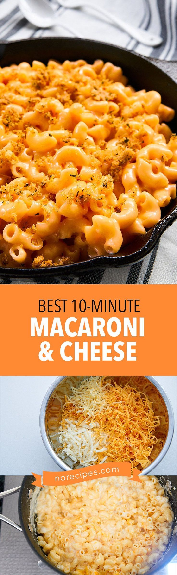 With a crisp cheesy topping and perfectly cooked macaroni in a satiny smooth sauce, no-one will believe this Mac and Cheese only took 10 minutes to make!