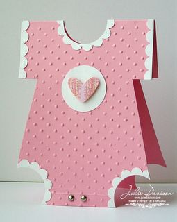 Julie's Stamping Spot -- Stampin' Up! Project Ideas Posted Daily: Onesie Baby Shower Card