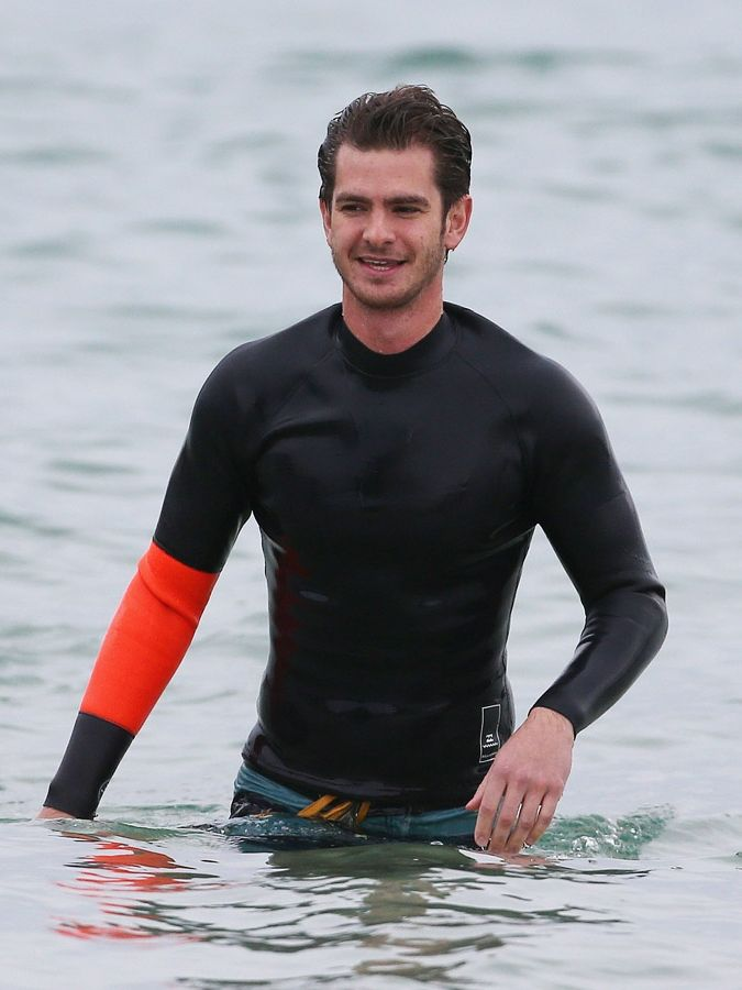 Shirtless Andrew Garfield Teaches Autistic Kids How To Surf In Australia