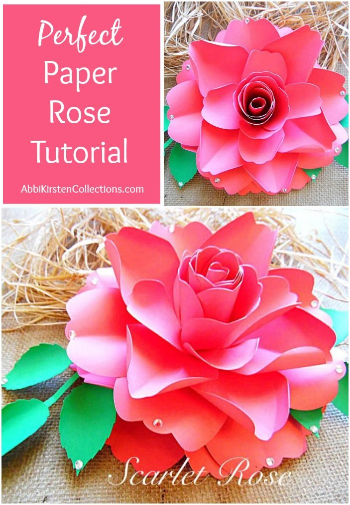 How To Make Paper Roses Easy Step By Step Tutorial Paper Roses