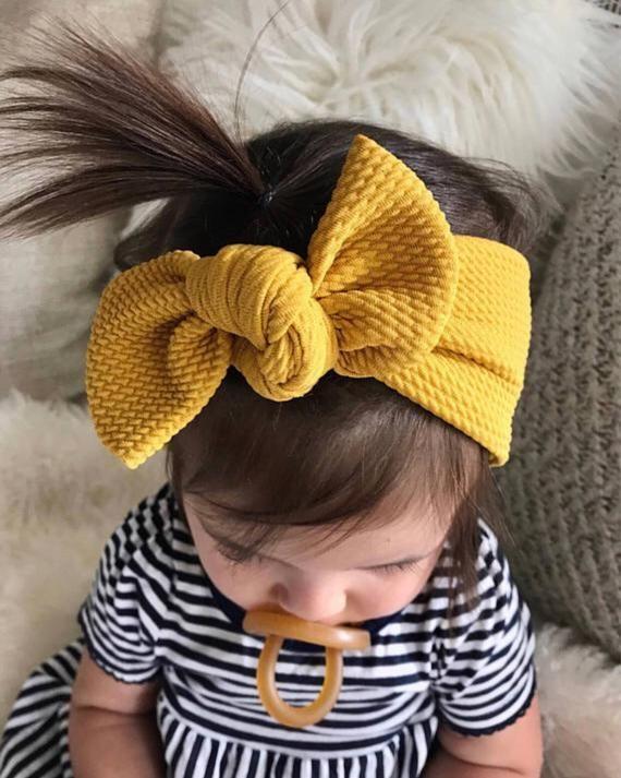Fall Headband Infant Headband Headband Mustard Headband Baby Headband Mustard Baby Headband Baby Girl Headband Fall Baby Headband
