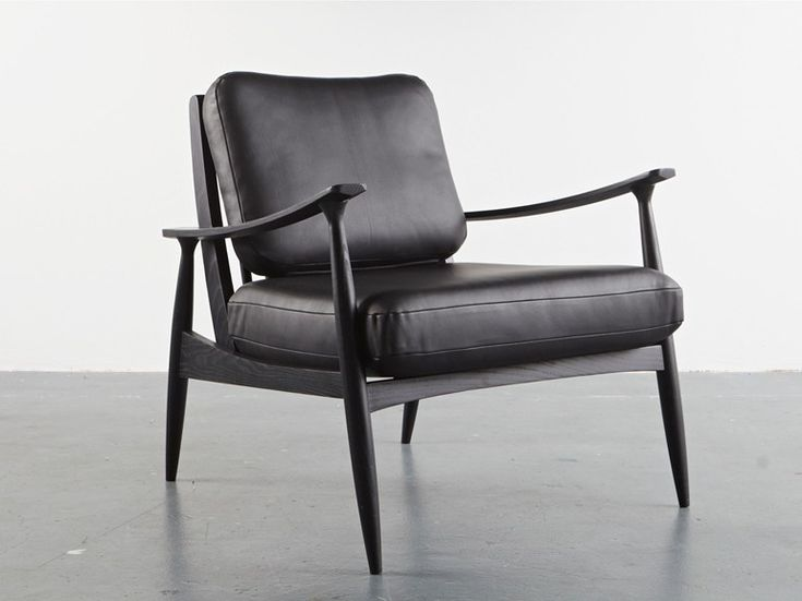 Upholstered easy chair with armrests FREDERIK by And Then Design