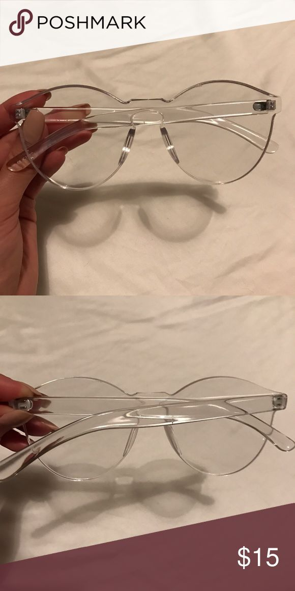 Urban Outfitters UV Clear Glasses Urban Outfitters online exclusive sold out UV glasses. No prescription. Super trendy and fun. Excellent Condition! Worn twice. Urban Outfitters Accessories Glasses