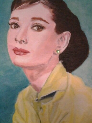 Love to paint this one Audrey Hepburn