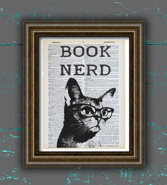 Ehi, ho trovato questa fantastica inserzione di Etsy su https://www.etsy.com/it/listing/277974924/libro-stampa-nerd-arte-libro-regalo-nerd