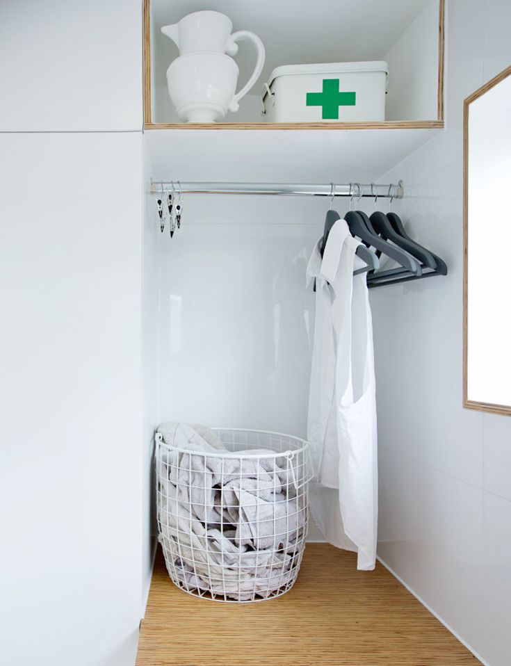 Laundry brilliance - use of space.