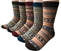 Vellette Men's Art Patterned Casual Crew Athletic Socks - Colorful Funky Socks for Men - Cotton Fashion Patterned Socks 5 Pairs
