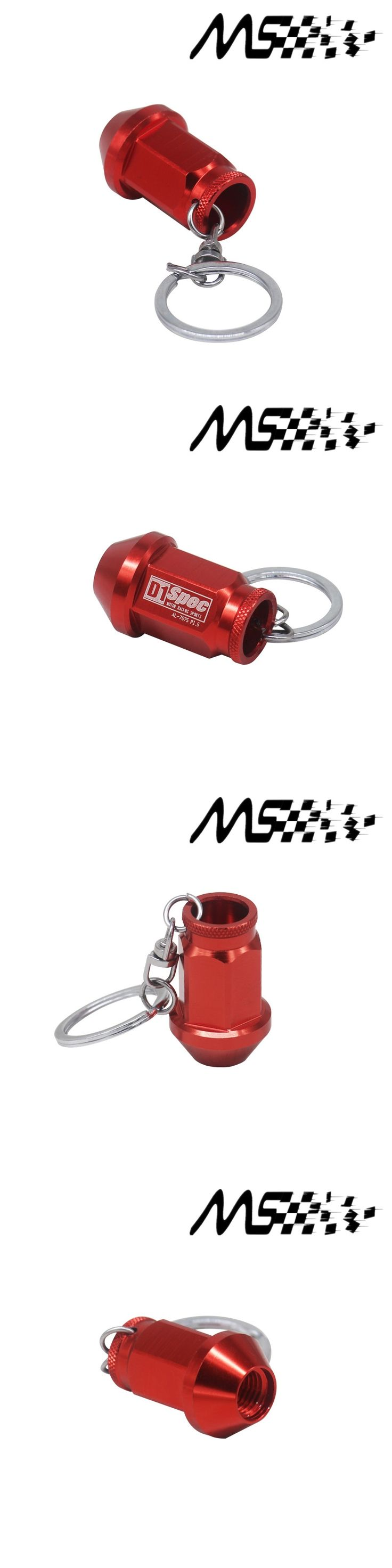 UNIVERSAL D1 SPEC Key chain JDM RACING 40MM WHEEL LUG NUTS Auto Car King Rings styling Car-covers Accessories Alloys Key Ring