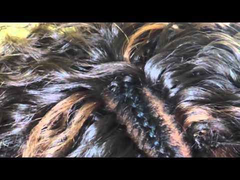 Tutorial Noeuds invisible pour Crochet braids /invisible crochet knot - YouTube
