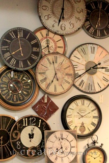 wall of clocks! Always thought this would be a cool idea and set the times to big cities around the world.