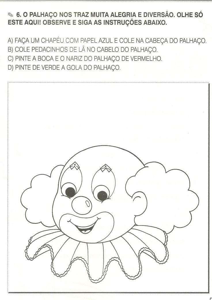 ATIVIDADES DIA DO CIRCO | Cantinho do Educador Infantil
