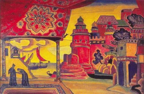 Николай Рерих. Город Леденец [1919 г.] СКАЗКА О ЦАРЕ САЛТАНЕ