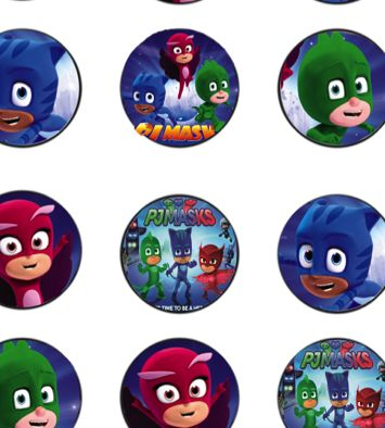 Free Pj Masks Birthday Party Cupcake Topper Printable