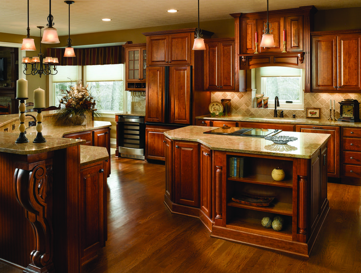 cherry finish kitchen cabinets 39 best fancy islands haas cabinet images on 5371