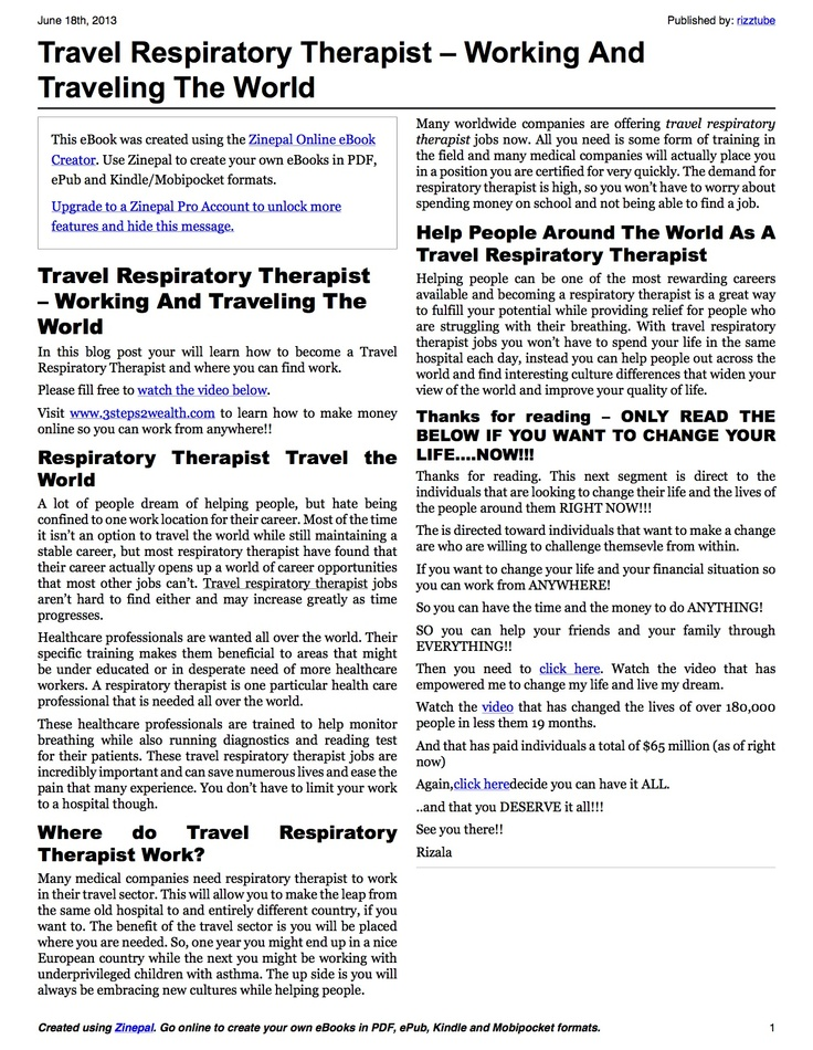 172 best images about Respiratory Notes – Respiratory Therapist Job Description
