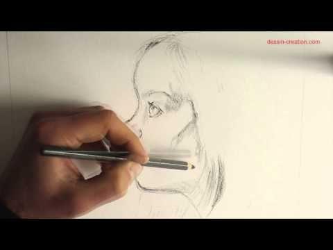 Vidéo tuto : dessiner un portrait au fusain - l'Atelier Géant