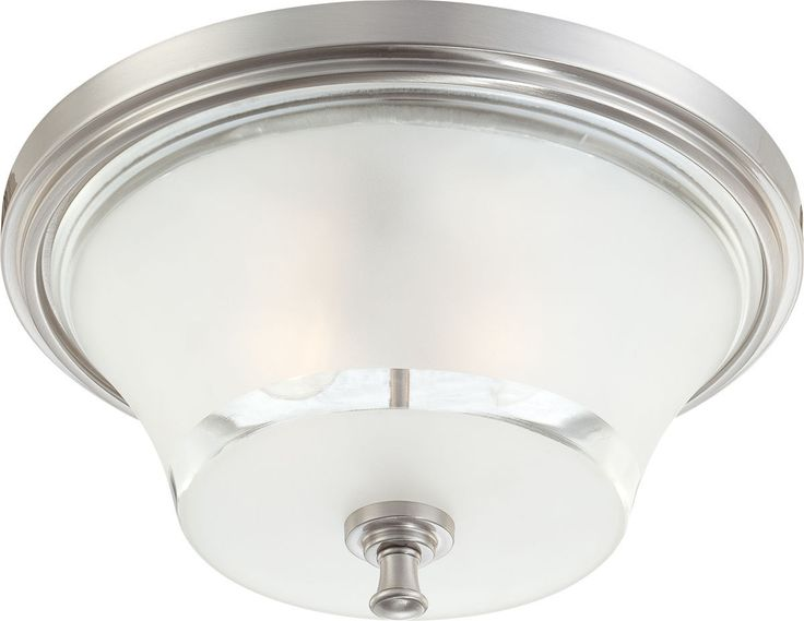 Nuvo Lighting 60 4532 Patrone Collection Three Light Flush Ceiling Fixture In Brushed Nickel Finish