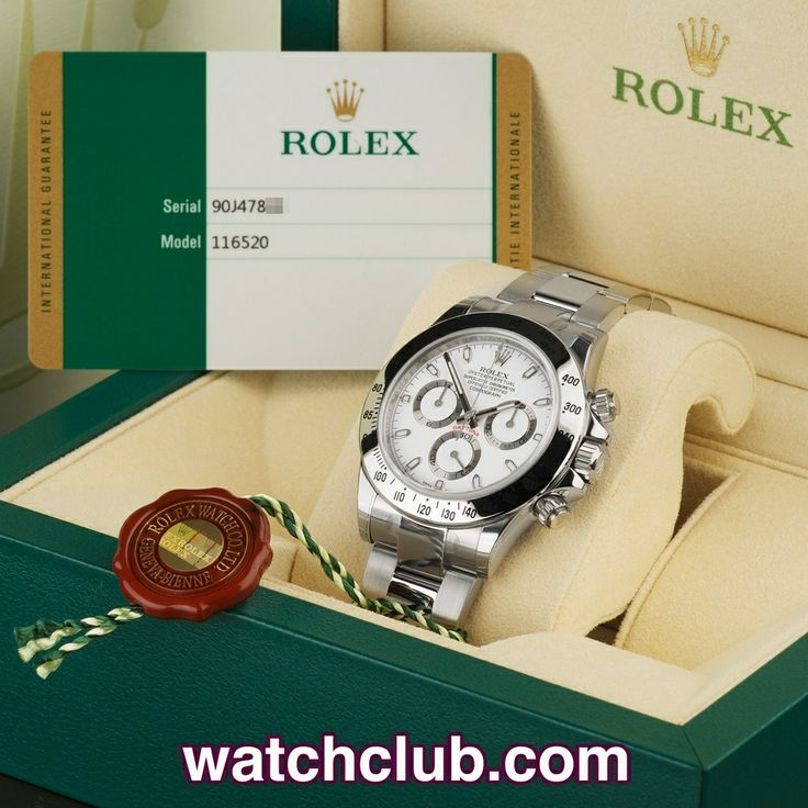 Rolex Cosmograph Daytona - Brand New 2014, Fully Stickered REF: 116520 | Year May 2014 - Under Rolex warranty until May 2016! Brand new, unworn and fully stickered, this latest model white dial Rolex Daytona Cosmograph ref.116520 is totally complete with Rolex's brand new style box, new style instruction booklet, chronometer swing tag and Rolex international guarantee card - for sale at Watch Club, 28 Old Bond Street, Mayfair, London