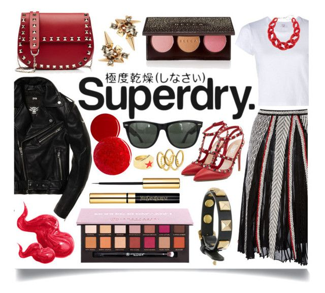 """""""The Cover Up – Jackets by Superdry: Contest Entry"""" by ittie-kittie ❤ liked on Polyvore featuring Emilio Pucci, RE/DONE, Superdry, Valentino, Anastasia Beverly Hills, Becca, Alexis Bittar, Rebecca Minkoff, Bobbi Brown Cosmetics and DIANA BROUSSARD"""