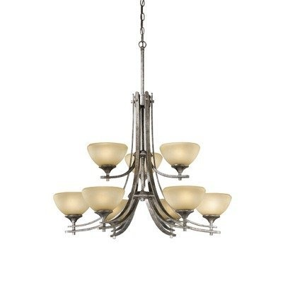 Vaxcel USA Lighting SE-CHU009AE, Sebring 9 Light Chandelier Lighting Fixture, Bronze, Glass, B3226 by Vaxcel Lighting, http://www.amazon.com/dp/B001S0TZQQ/ref=cm_sw_r_pi_dp_KfLZqb13Y7J9F