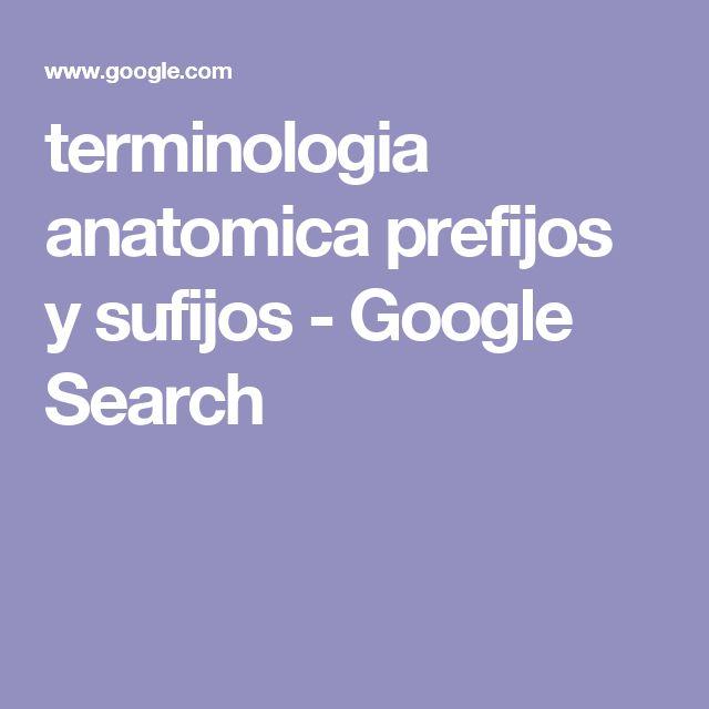 terminologia anatomica prefijos y sufijos - Google Search