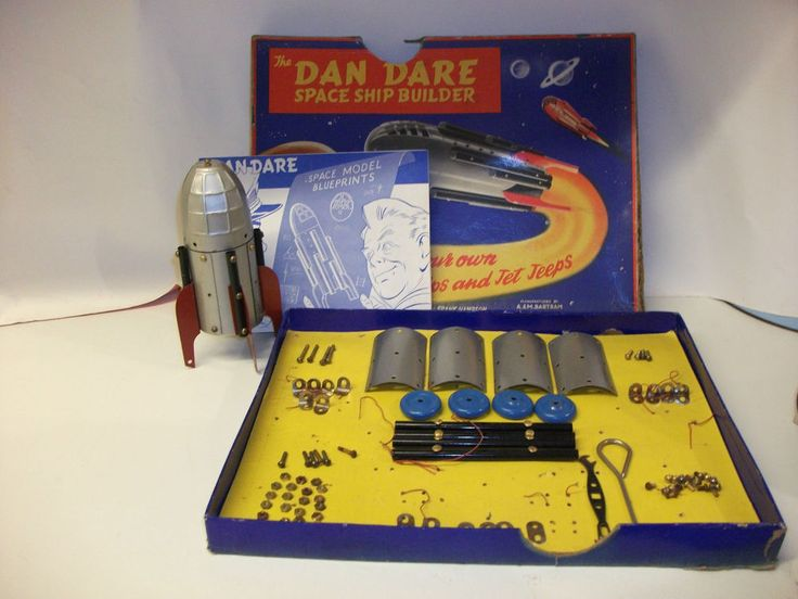 Rare Vintage Dan Dare Spaceship Builder ~ AM Bartram Boxed & Instructions
