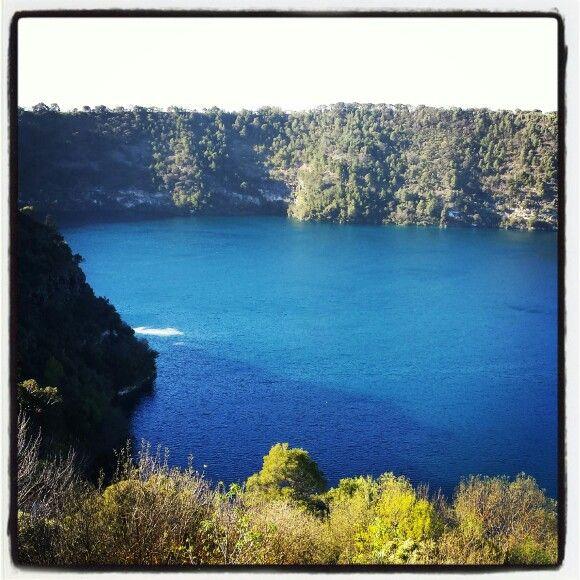 Mount Gambier - big blue lake :-)