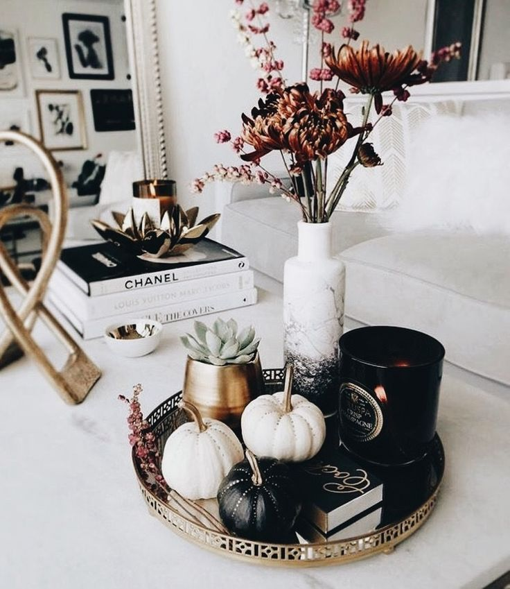 Fall/ halloween coffee table decor
