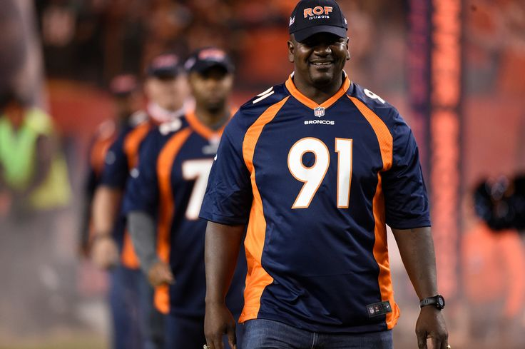 . Former Bronco, Alfred Williams, is announced as the 1997 Broncos team is honored before the game. The Denver Broncos played the Green Bay Packers at Sports Authority Field at Mile High in Denver, CO on November 1, 2015. (Photo by Helen H. Richardson/The Denver Post)