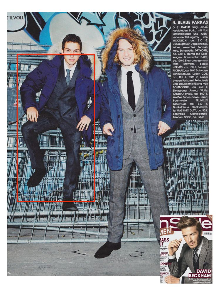 DRYKORN in the Edition of German InStyle Men/Jan. 2015