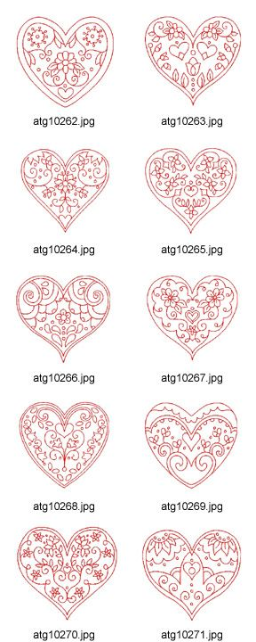 red work valentines. This would be awesome to use as chocolate patterns for cupcake embelishments!