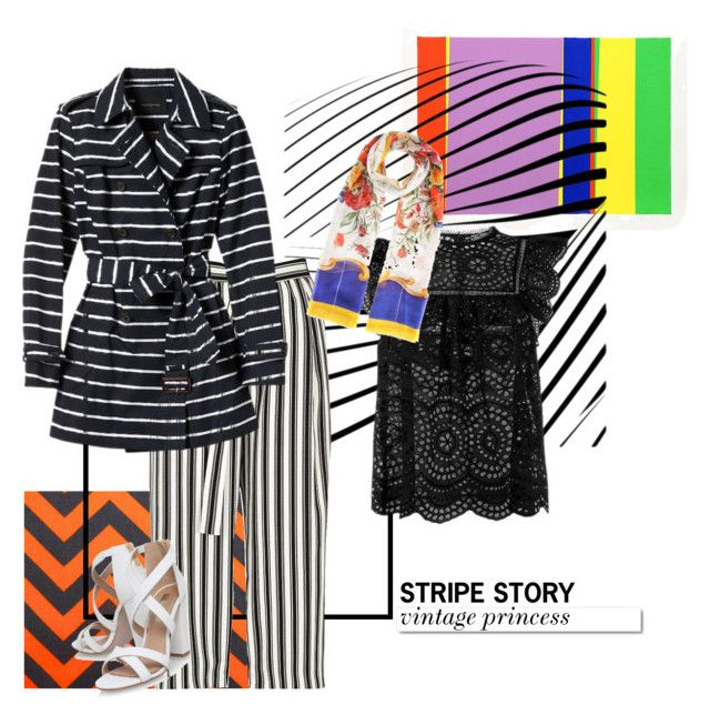 """stripe story #1"" by ina-misshijab on Polyvore featuring River Island, Zimmermann, Banana Republic, White Label, Miss KG and Dolce&Gabbana"