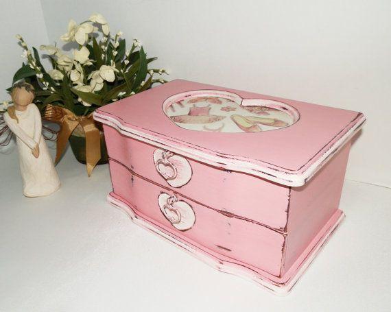 Upcycled Girls Jewelry Box Storage Organizer by TreasuresbyMarylou, $40.00