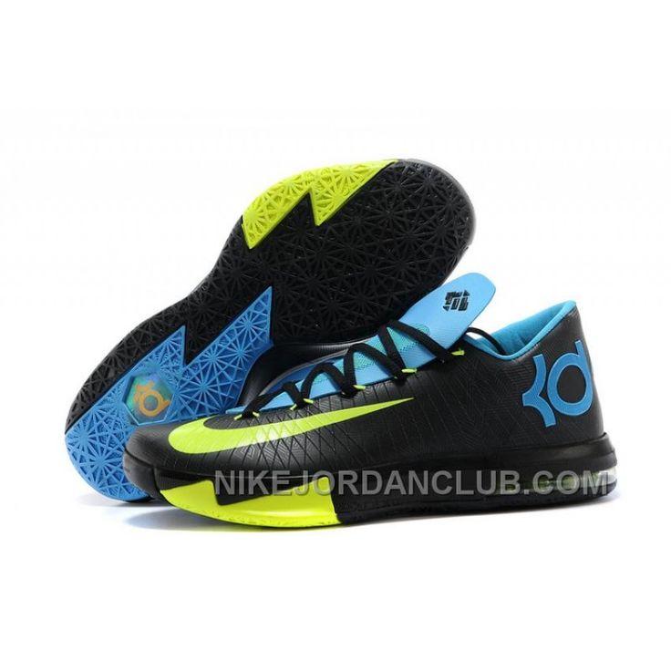 "Nike Kevin Durant KD 6 VI ""Away II"" Black/Volt-Vivid Blue-Dark Grey Lastest, Price: 79.91€ - Nike Shoes for Men, Women & Kids, Air Jordan Shoes | NikeJordanClub.com"