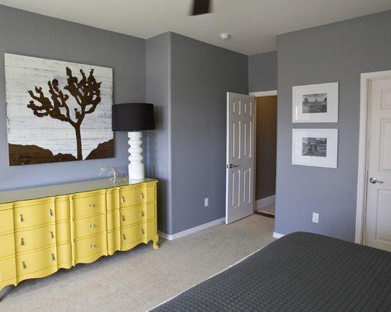 glidden granite grey eclectic bedroom by michelle hinckley