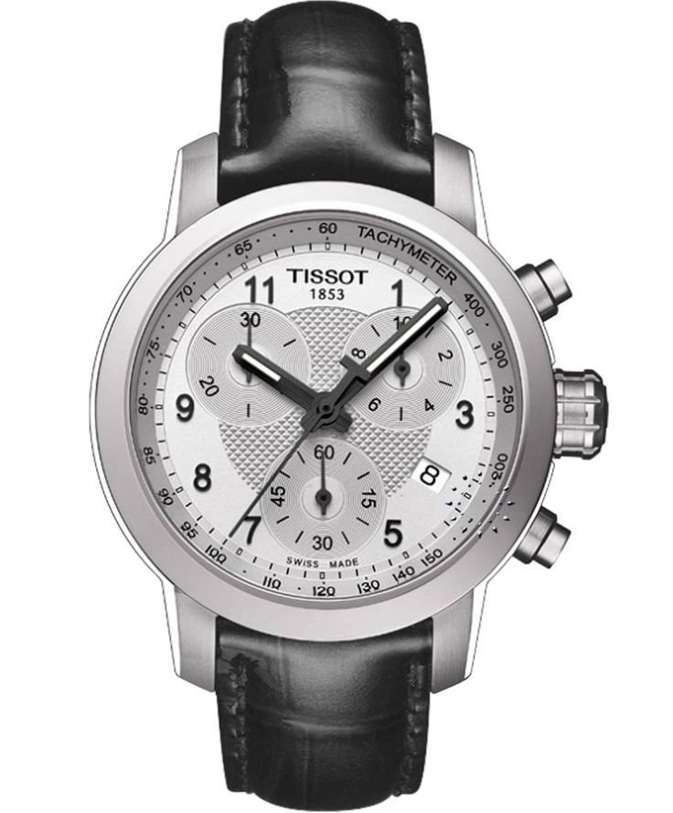 TISSOT Ladies PRC200 Chronograph Black Leather Strap Η τιμή μας: 351€ http://www.oroloi.gr/product_info.php?products_id=35729