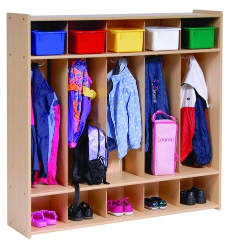 Five Section Locker - RTA | Honor Roll Childcare Supply http://www.honorrollsupply.com/collections/daycare-preschool-value-line/products/five-section-locker-1