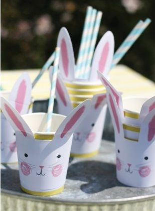 Perfect for little celebrations and Easter parties, these paper cups from Meri Meri are an adorable choice for children.