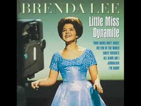 'Little' Brenda Lee belted out  a new tune at us the end of 1959 with her 'Sweet Nothings' - such a little gal with that great big voice!