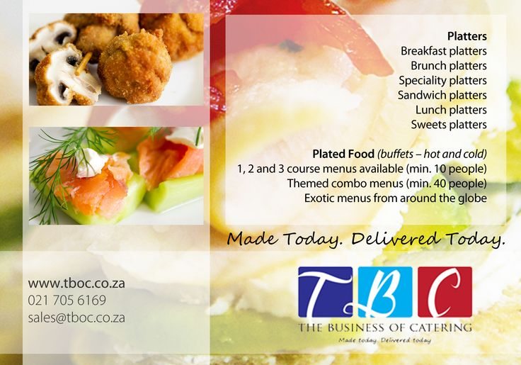 Our Flyer we hand out. www.tboc.co.za