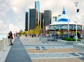 Detroit Michigan  Riverfront