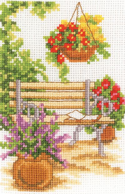 Garden Bench Cross Stitch Kit | sewandso