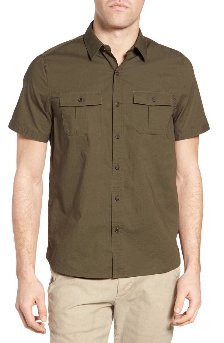 New Michael Bastian Ripstop Safari Shirt ,BRILLIANT BLUE fashion online. [$128]top10shopping top<<