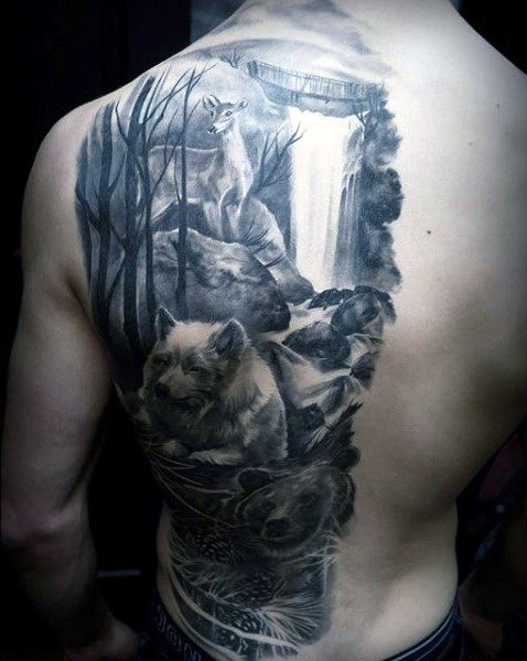 70 Waterfall Tattoo Designs For Men