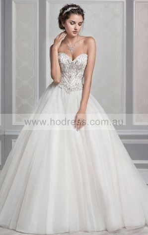 Buttons Chapel Train Ball Gown Natural Sweetheart Wedding Dresses hdcf1001--Hodress