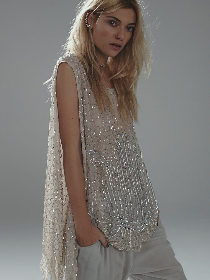 Free People Sequin Tunic at Free People Clothing Boutique looks great in this shot...ridiculous in subsequent.
