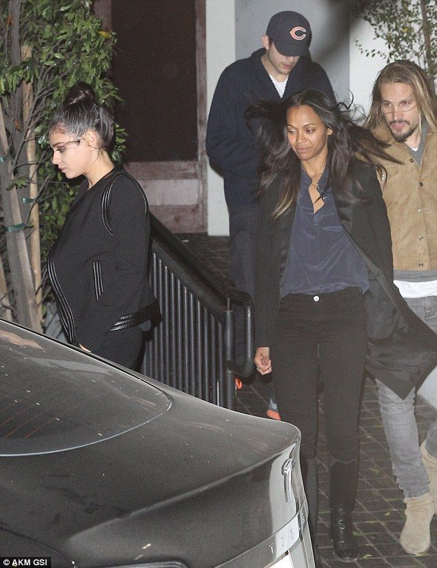 Double date: Mila Kunis and Ashton Kutcher were spotted on  Monday on a double date with Z...