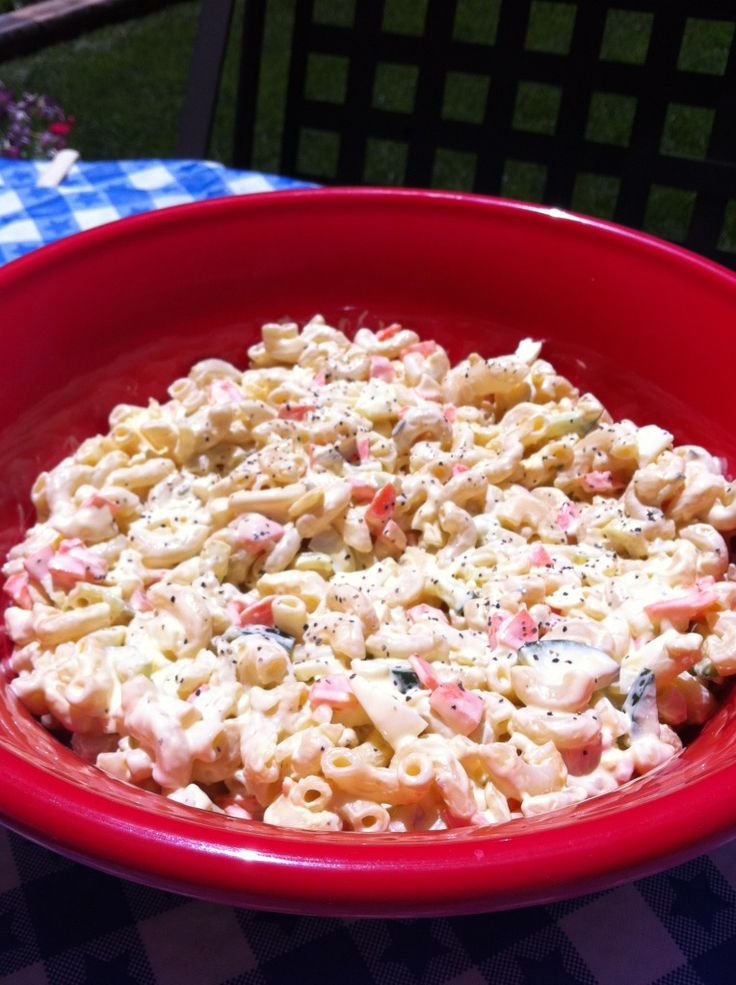 Kathe With An E - The Perfect Eggy Mac #Salad #PerfectSaladForBBQ