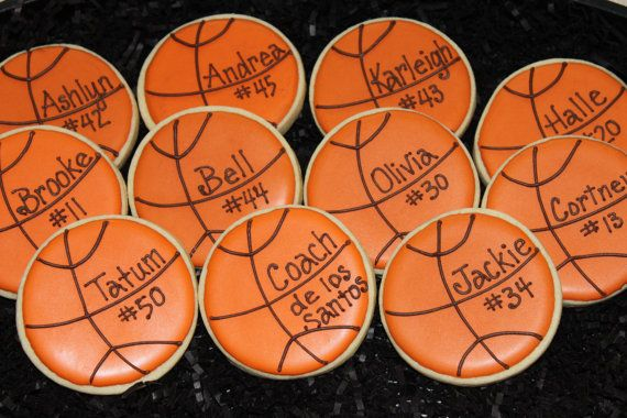 Basketball cookies basketball favors custom by 4theloveofcookies