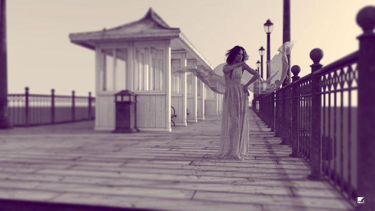 lady @ pier
